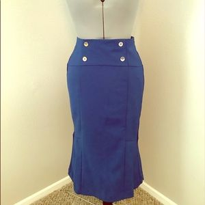 Detailed Tailored Fitted Skirt